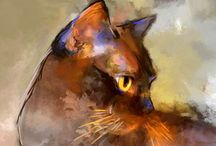 Best Cat Paintings / The best cat paintings I've found on the internet. I am very strict about the quality ;)