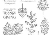 Lighthearted Leaves (Nov. 2, 2015) / Stampin' Up! Lighthearted Leaves stamp set; samples on this board are from our Blog Hop on the date posted. This stamp set coordinates with the Leaflets Framelits. (Annual Catalog 2015-16)