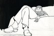 Illustratrice Claire Bretecher / Dessins humoristiques