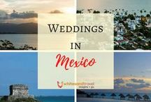 Weddings in Mexico / Mexico is an excellent location for a destination wedding. Here you can find ideas and wonderful, helpful links to weddings that can be planned and booked in Mexico!