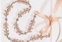 ROSE GOLD BRIDAL JEWELRY / From romantic back pendant necklaces to dreamy headpieces, shop all Amy O. Bridal rose gold on amyobridal.com