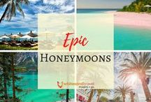 "Epic Honeymoons / These honeymoon locations are epic and extraordinary! This isn't ""just another vacation"" — your honeymoon should take you way beyond the ordinary."