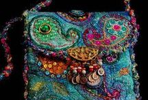 Colourful Bags / Sewn, crocheted, knit, embroidered, sequined, beribboned, embellished, colour-soaked bags of all sizes and shapes