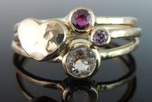 Rings / Gemstone solitaires, band rings and stack ring sets in silver and gold