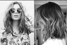 Half lang haar / Voor de dames met een stijlvolle halflange coupe.