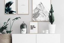Living / with love to minimalism, vintage and open white spaces