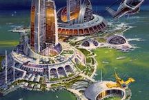 cities (futuristic, fantasy, steampunk, cyberpunk)