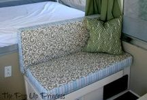 Camper Cushions / Sick of the ugly factory cushions?  Find all the ways to give new life to your camper cushions here.