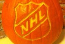 Hockey Halloween / Hockey inspired pumpkins, costumes and jack-o-lanterns