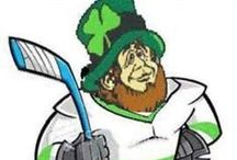 Hockey St. Patrick's Day / Green, Shamrocks, Clovers, Leprechauns, Pot of Gold, Lucky, Green Beer, Pinch, Ireland, Celtic Music, Corned Beef and Cabbage