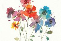 watercolor •