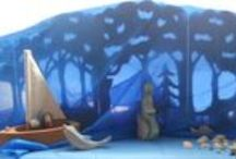 Waldorf: Summer / seasonal crafts, nature tables, transparents, art