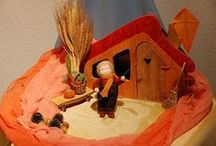 Waldorf: Autumn / seasonal crafts, nature tables, transparents, art