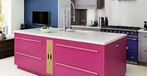 Colourful Kitchens / White is still very trendy, but if you would prefer to bring some colour into your kitchen here are some ideas.