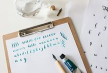 DIY | Calligraphy & Lettering / Cheats, how-to's en praktische tips voor handlettering en moderne kalligrafie