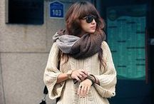 Scarf Styles We <3 / Different ways to style, wear, and rock your scarf collection