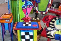 Painted chairs and other things