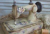 vanhat ompelukoneet, tuunaaminen / ompelukone