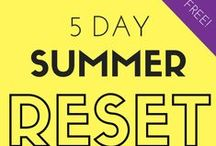 5 Day Summer Reset 2015 / Awesome fitness & healthy eating challenge from Cohesive Fitness & Heather Pavlik!