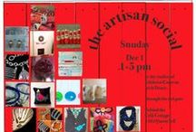 The Artisan Social / Some of the talented artists I'll be with on Dec 1, 2013 1pm-5pm at The Artisan Social. More info here: http://artisansocial.blogspot.ca / by Lynn's Lids