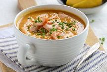 Seafood Soups / Curl up with your favorite seafood soup recipes this fall using sustainable Wild Planet seafood!