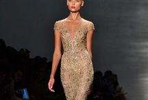 Golden Wedding dresses for an evening wedding. / Some designs that idvlike for my special day