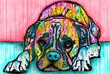 Dean Russo Art / Our work with Dean Russo is one of our favorite collaborations to date. This board is focused on the Brooklyn-based artist's work with dogs. Arf!