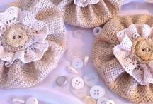 Making fabric  flowers and necklesses
