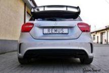 REALIZACJA: MERCEDES-BENZ A 45 AMG / Choć Mercedesom sygnowanym logo AMG zdecydowanie nie można odmówić rasowego dźwięku, zawsze może być jeszcze lepiej! Tak jest również w przypadku najmniejszego z AMG – kompaktowego A 45 AMG. W sportowym Mercedesie zamontowaliśmy więc kompletny układ wydechowy Remus Polska z systemem sterowania klapami.  Więcej informacji znajdziecie na blogu GranSport - Luxury Tuning & Concierge:  http://gransport.pl/blog/realizacja-mercedes-benz-45-amg-2/  Zapraszamy!