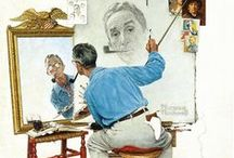 Norman Rockwell  (1894-1978) / Norman Perceval Rockwell, American artist and designer . Especially charming is based on American daily life , he drew warm and humorous pictures with more than 40 years the cover of The Saturday Evening Post magazine.
