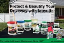 Your Blacktop Driveway / Your blacktop driveway is the entrance to your home - so treat it that way! Our Latex•ite products will not only beautify your driveway but will extend it's life and put off costly repairs.