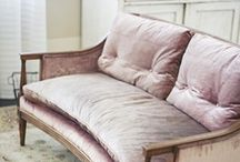 Soft furnishings & details / Close up details of upholstery, curtains, window treatments and furniture in interior design