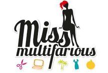 Miss Multifarious - Design, DIY, Fashion & Life / Mein Blog vollgepackt mit designten, gebastelten Sachen und Dingen, die das Leben schöner machen!