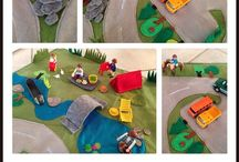 DIY Mobile Playcarpet / I made a mobile Playcarpet for my son. It is made of fabric and felt.