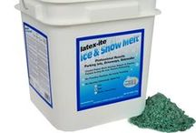 Latexite Ice & Snow Melt / Latexite 40lb. Ice & Snow Melt: Professional Results for Parking Lots, Driveways, Sidewalks.  5 Star Rated