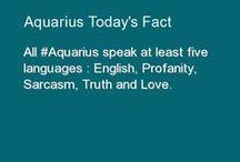 Aquarius BORN to be WILD / My Star Sign