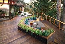 Porch + Patio / a board for outdoor living space. Cool patios, chic porches and awesome grills