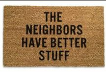 Welcome Mat Humor / Funny and unconventional welcome mats