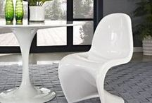 LexMod Slither (Panton) Chairs / The acclaimed mid century modern dining chairs... now showing in your house!