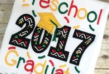 School Embroidery Designs and Appliques / Looking for school embroidery designs or school appliques?  Look no further!  Find stylish back school, 100 days of school, graduation embroidery and applique designs, and embroidery designs for teacher gifts from Belliboos Designs.