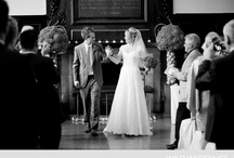 The Great Hall at Fulham Palace / Wedding photos from within the dramatic, dark wood Great Hall within Fulham Palace in London