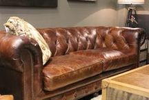 Leather / When leather furniture is upholstered with top-grain leather the furniture costs more precisely because it will last longer, wear better, and look nicer over time than any other type of upholstered furniture.
