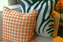 Bold Patterns / Patterns that stand out and demand to be noticed add personality to your home with furniture, floor covering, or a wall treatment.  #boldpatterns, #notshy, #trends