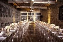 Weddings / The Burroughes Building - Food Reception Set-up