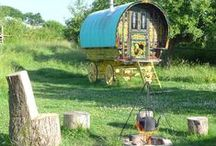 Glamping / www.gypsycaravanbreaks.co.uk Imagine staying somewhere like this for a romantic getaway or some simple peace and quiet.