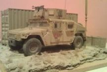 """""""On patrol"""" Kandahar 2012 / Afghanistan 1:35 Scale / Slovak Force Protection Coy on patrol, M1151 U.S. Enhanced Armament Carrier with PKMB 7,62 mm MG, Kandahar Airfield / Afghanistan 2012"""
