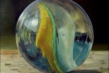 Still Life with Marbles / Marbles are beautiful, colorful, and fun, and many modern still life artists have jumped on the opportunity to include them in their work.  Photographic still life falls outside the scope of this board. It includes paintings only.