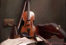Still Life with Musical Instruments / Music and art are a natural match, so many artists have included musical instruments in their still life paintings.  Photographic still life falls outside the scope of this board. It includes paintings only.