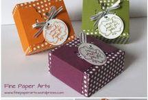 Geschenkverpackungen, kleine Geschenke / Schöne Verpackungen, hauptsächlich von Stampin' Up!