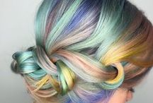 Trend: Rainbow Hair / Mermaid, unicorn, cotton candy, opal, oil spill.. the possibilities are endless!